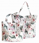 SHOPPER BAG Cotton - Watercolor flowers