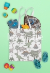SHOPPER BAG Cotton - Dinozaury